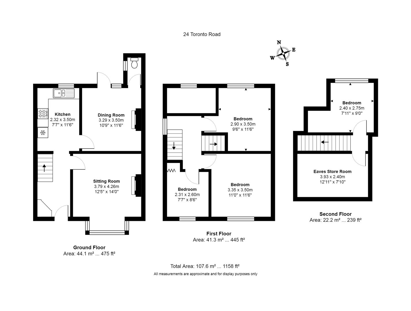 4 bed house for sale in Toronto Road, Bristol - Property Floorplan