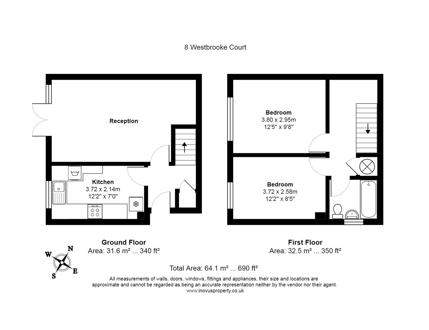 2 bed flat for sale in Westbrooke Court, Cumberland Close, Bristol - Property Floorplan