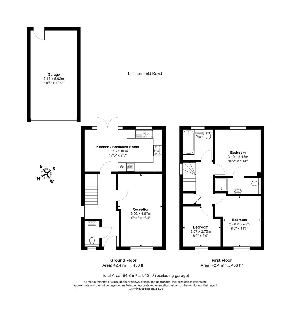 3 bed house for sale in Thornfield Road, Bristol - Property Floorplan