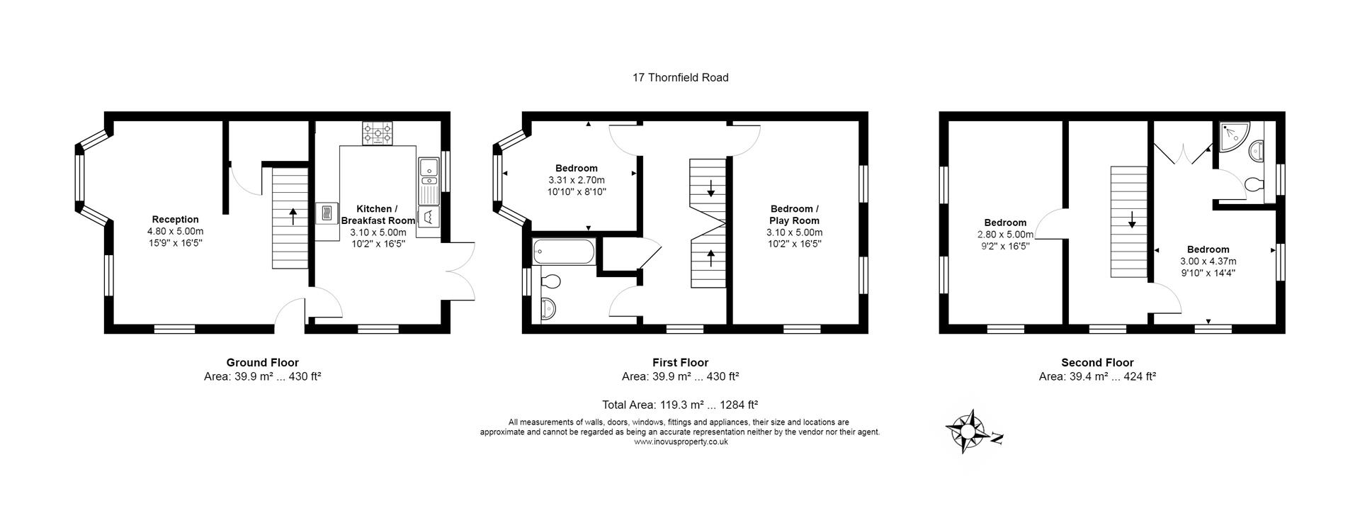 4 bed house for sale in Thornfield Road, Bristol - Property Floorplan
