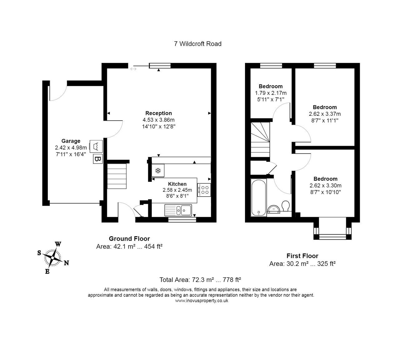 3 bed house for sale in Wildcroft Road, Bristol - Property Floorplan