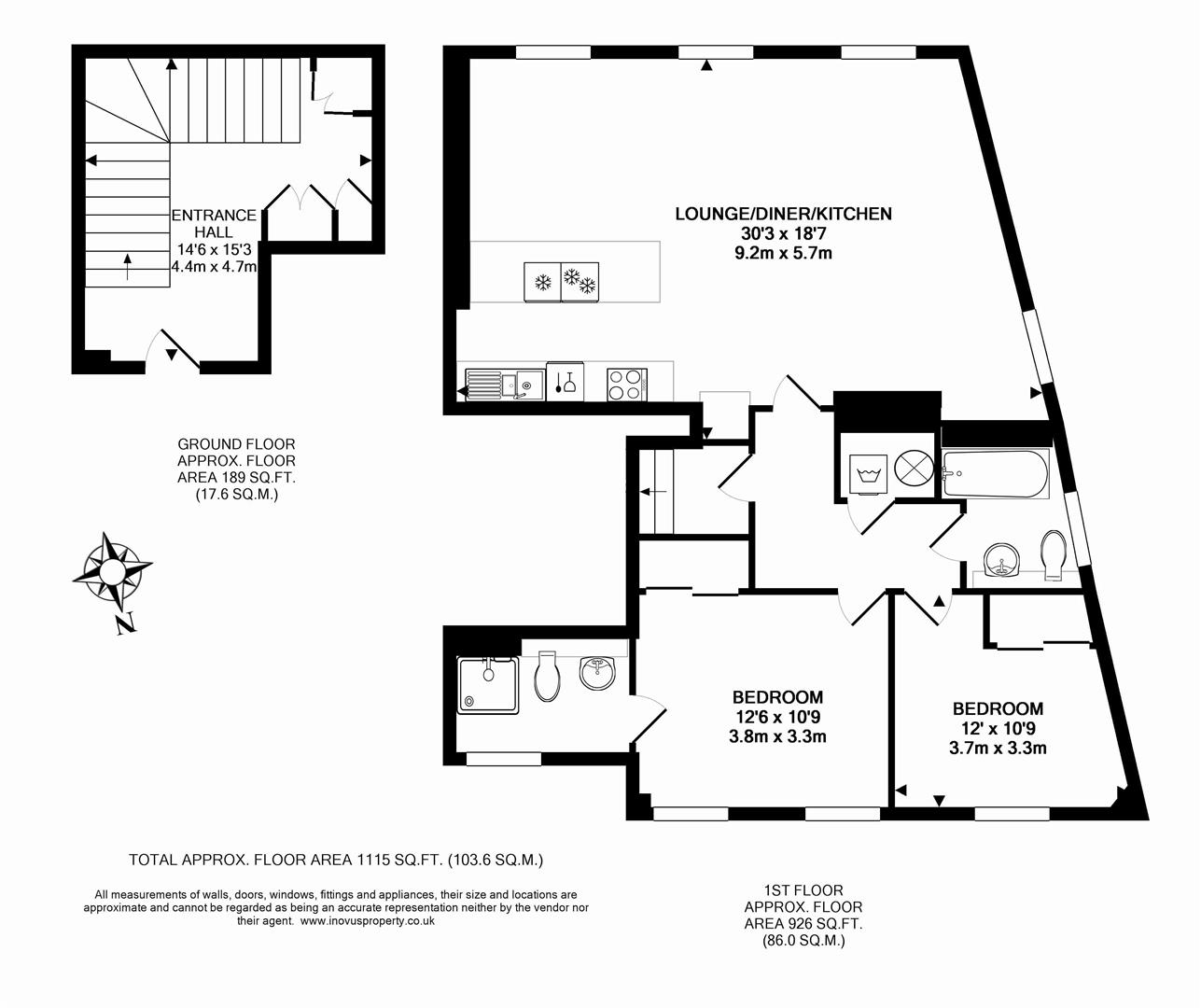 2 bed flat for sale in Grove House, Cornwallis Grove, Bristol - Property Floorplan