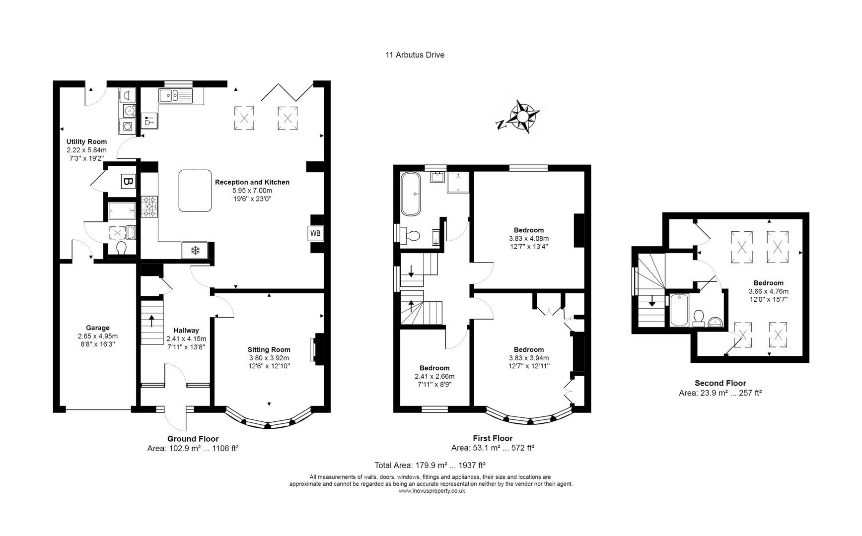 4 bed house for sale in Arbutus Drive, Bristol - Property Floorplan