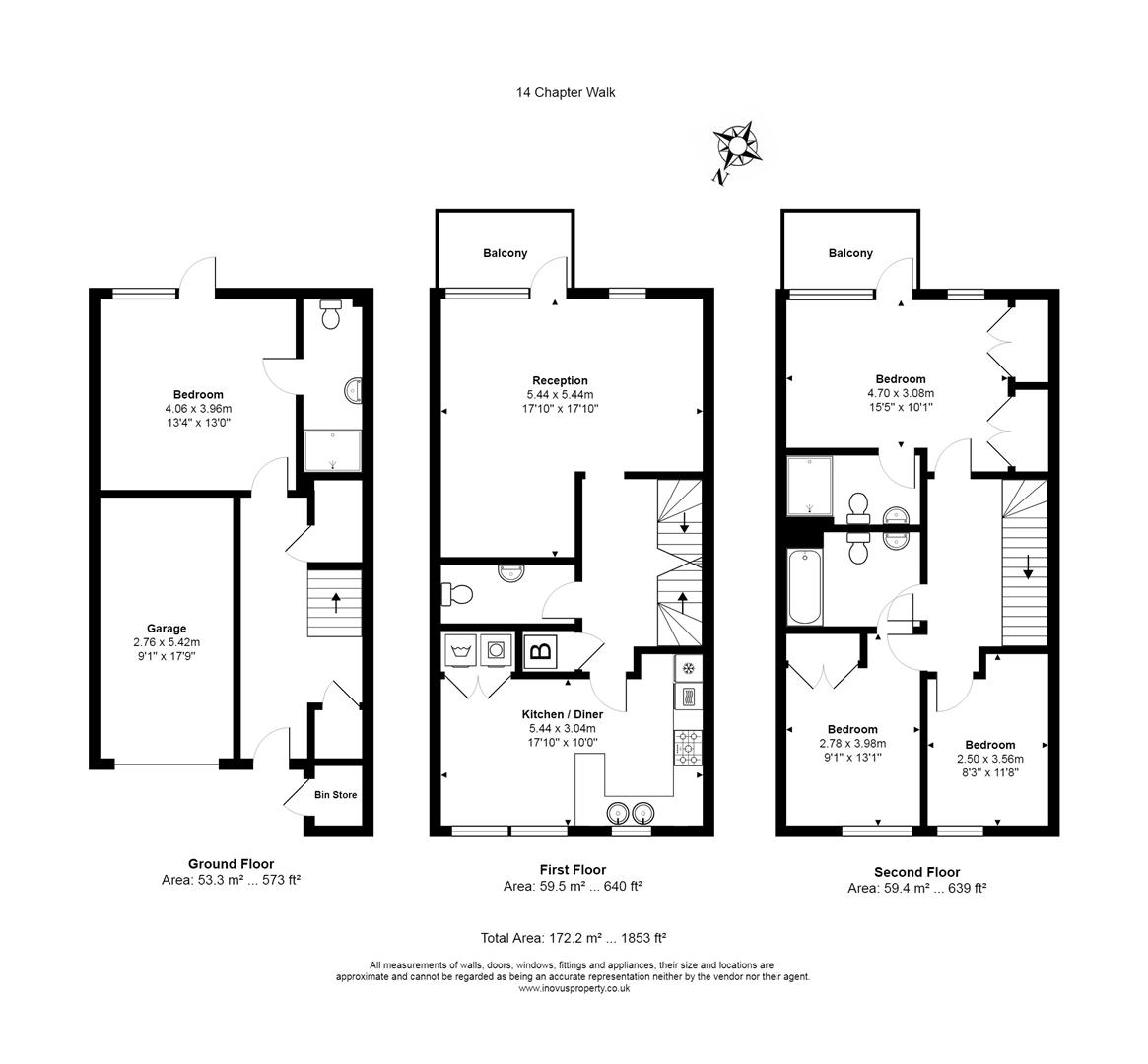 4 bed house for sale in Chapter Walk, Bristol - Property Floorplan