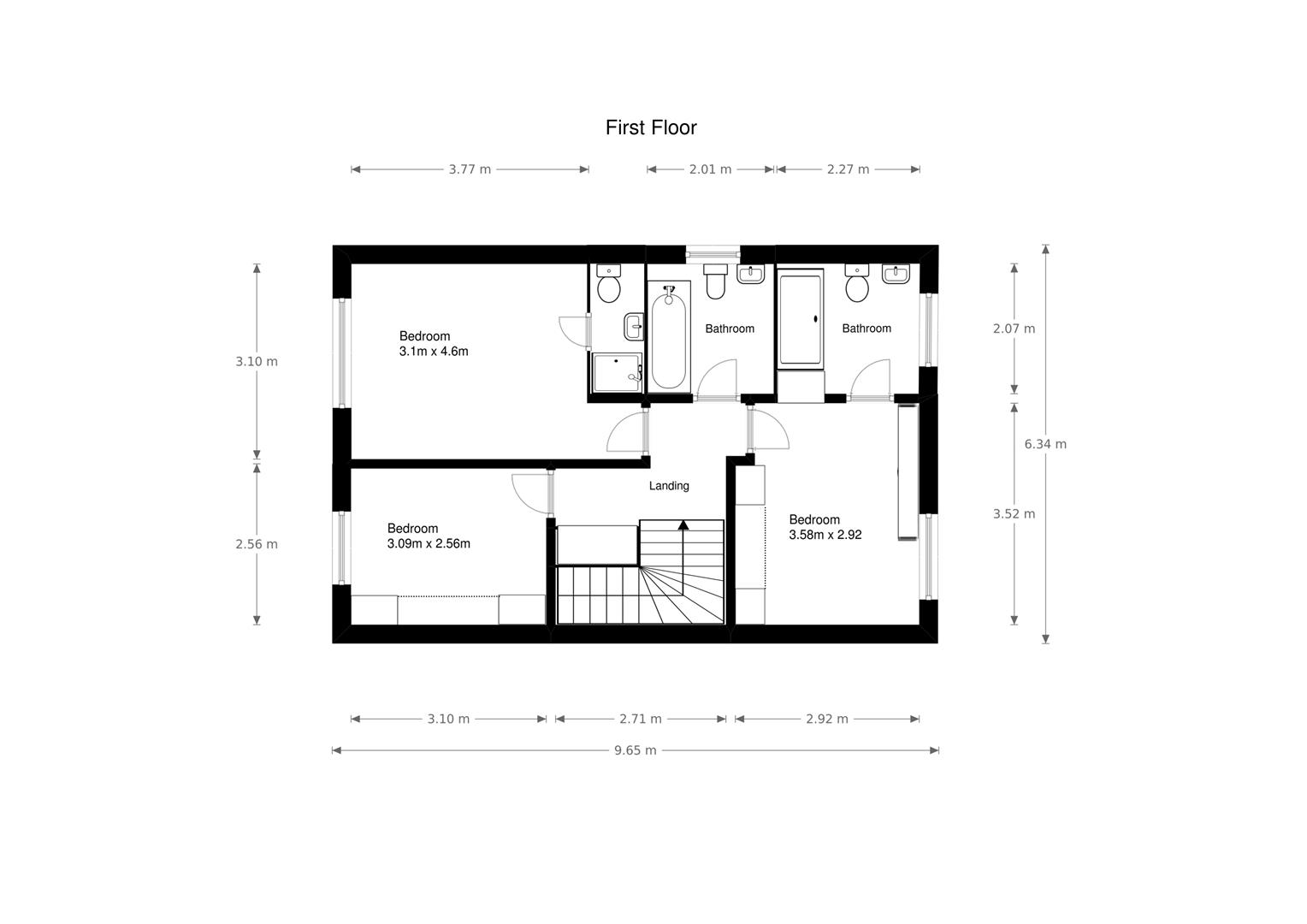 3 bed house for sale in Fallodon Way, Bristol - Property Floorplan