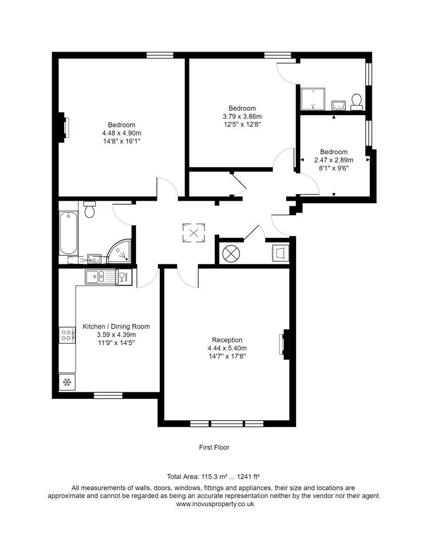 3 bed apartment to rent in Westfield Park, Bristol - Property Floorplan
