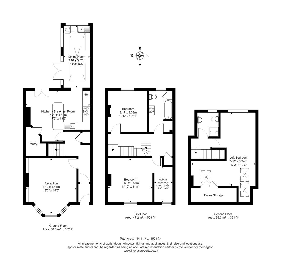 3 bed terraced house for sale in Raglan Place, Bristol - Property Floorplan