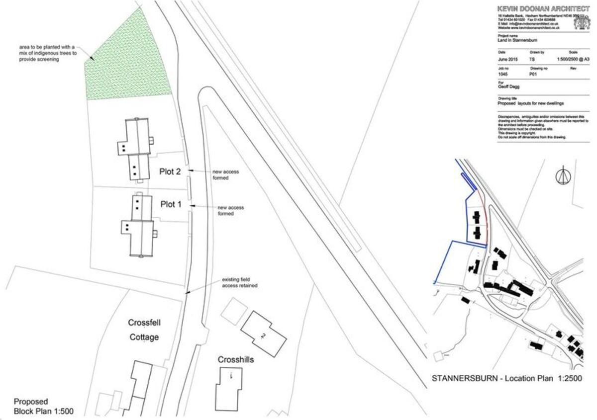 4 bed plot for sale, Hexham - Property Floorplan