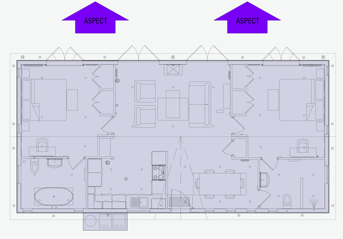 2 bed detached bungalow for sale in  , Alnwick - Property Floorplan