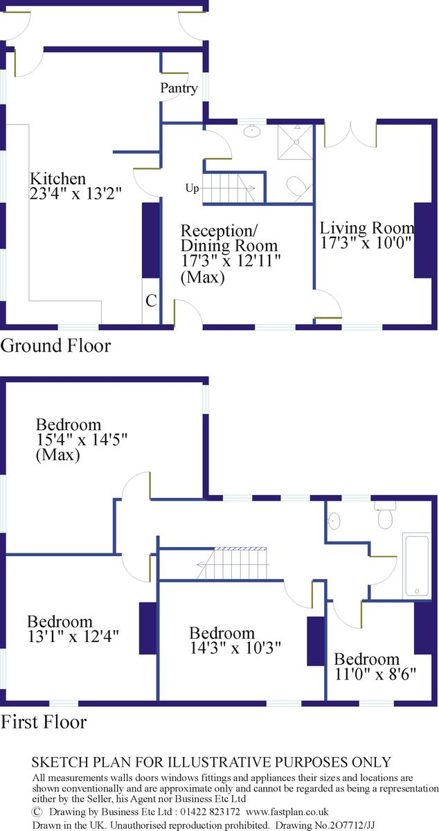 4 bed to rent, Leyburn - Property Floorplan