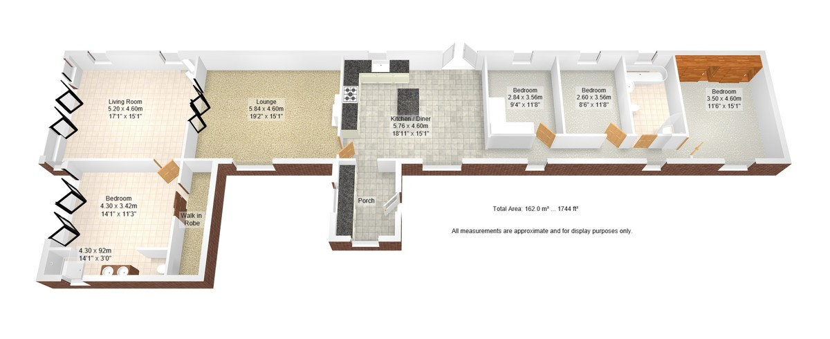 4 bed barn conversion for sale in Highland Farm Cottages - Property Floorplan