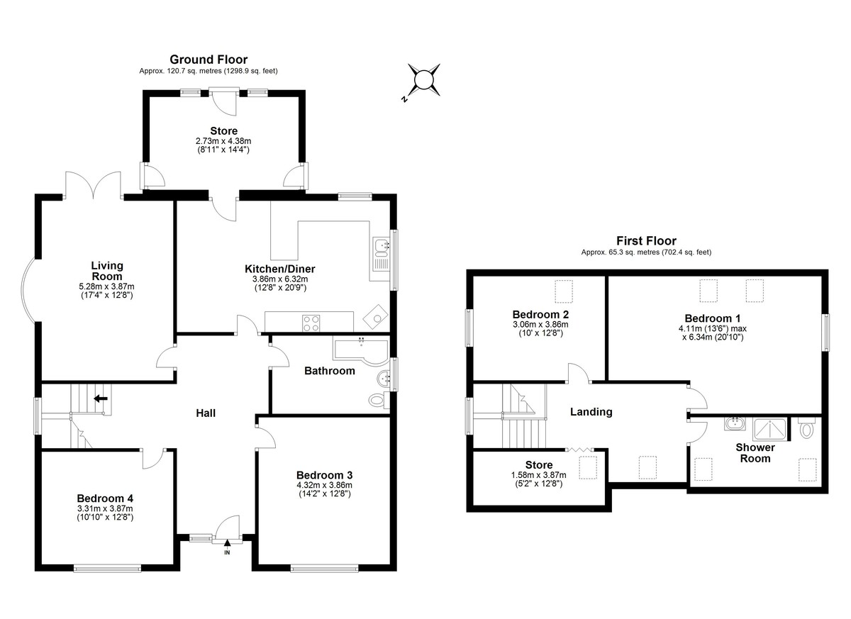 4 bed farm house for sale, Stanley - Property Floorplan