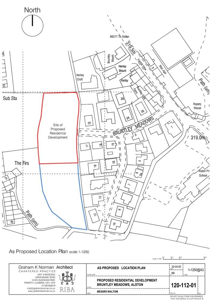 Plot for sale, Alston 2