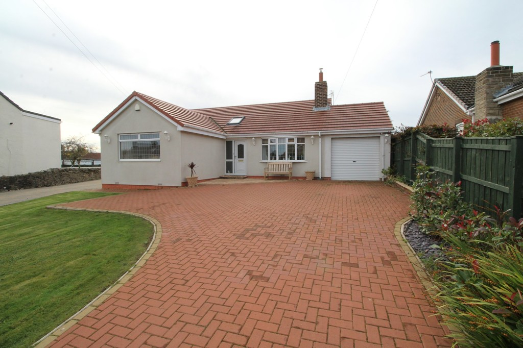 A well proportioned and modern, detached 3 bedroom bungalow, set back from the road on a generous plot in Trimdon village. This property has two reception rooms including a large conservatory, spacious bedrooms, one of which has an en-suite, gardens to the front and rear, a garage and ample parking.