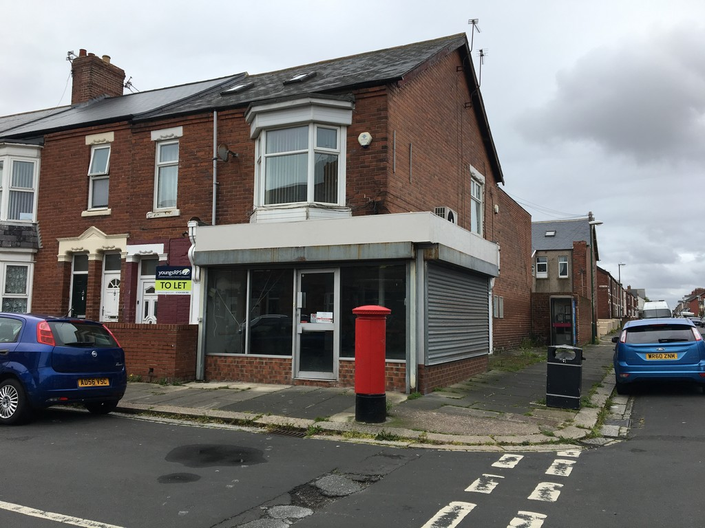 Ground floor shop to let in a densely populated area of South Shields.