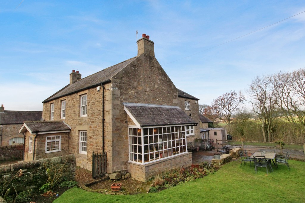 Traditional stone and slate built five bedroom farmhouse occupying a generous sized plot of circa 0.6 acres, pleasantly situated in an idyllic countryside setting on the outskirts of the desirable village of Humshaugh.