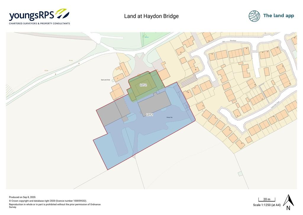 Plot for sale, Hexham 1