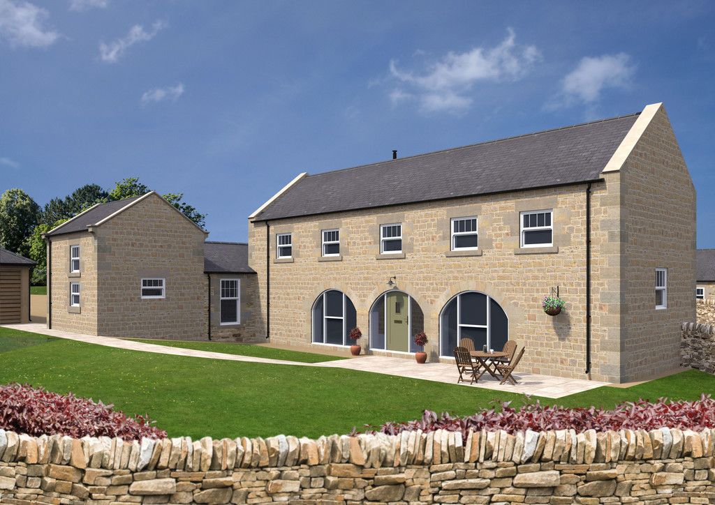 South Barn is a four-bedroom stone and slate built traditional barn with fabulous views across the Tyne Valley.