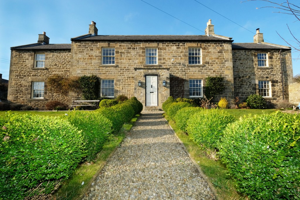 NEW TO MARKET - A substantial double fronted stone built grade II listed farmhouse, the principal house within the former farm steading in the centre of the sought-after village of Newton. This five bedroom farmhouse has many noteworthy character features and enjoys South facing gardens. Please contact the Hexham office for more information.