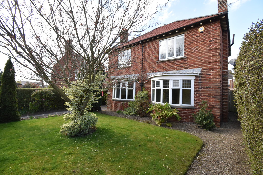 A detached and well-proportioned property with two generous reception rooms and a downstairs study. There is ample outside space and parking as well as a single garage in a central Northallerton location.