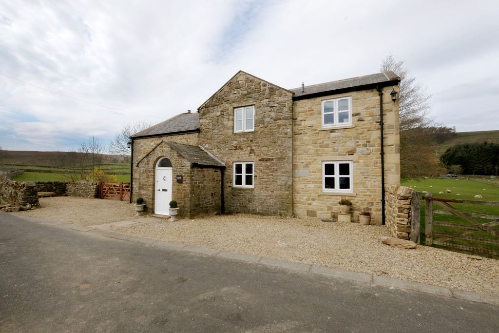 A detached four bedroom converted chapel full of character set in an idyllic location with beautiful countryside views, well maintained gardens, stabling and approximately 3.08 acres of land.