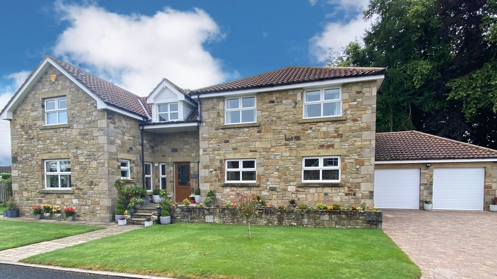A luxury stone built detached home, tucked away in a tranquil position in Swarland. The property offers impressive accommodation to include five ensuite bedrooms, three reception rooms and large garden, finished to high standard throughout.