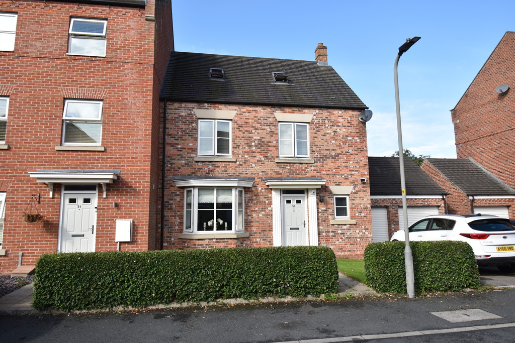 A deceptively spacious 4 bedroom  town house located in the sought after Romanby area within easy reach of the mainline train station, well regarded schools and facilities. This property has one of the largest gardens on the development & has the benefit of a versatile timber garden room.
