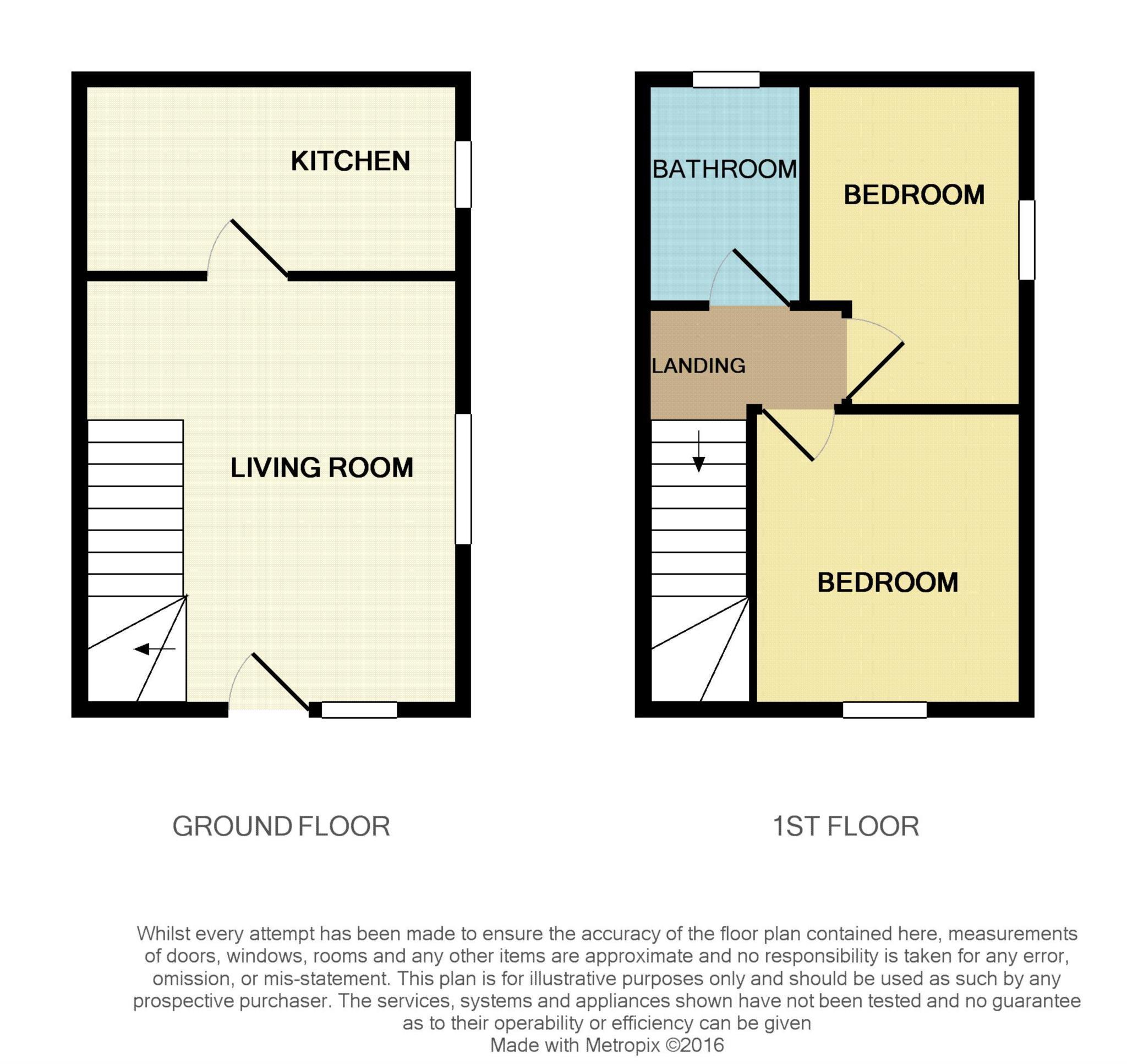 2 bed end of terrace house for sale in The Mews, Shorts Lane, Blandford Forum, Blandford Forum - Property Floorplan