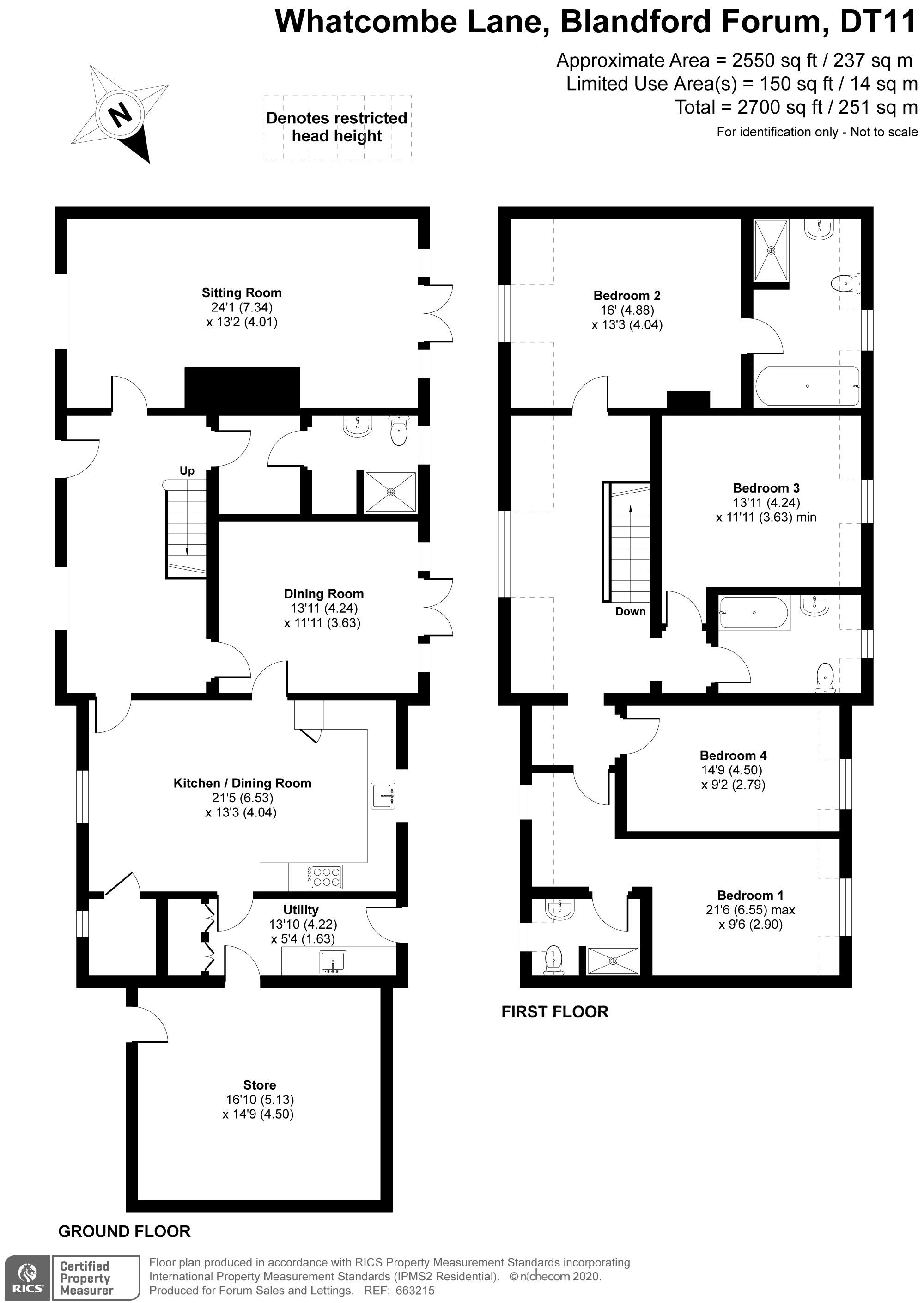 4 bed detached house for sale in Wagtails, Whatcombe Lane, Winterborne Whitechurch, Blandford Forum - Property Floorplan
