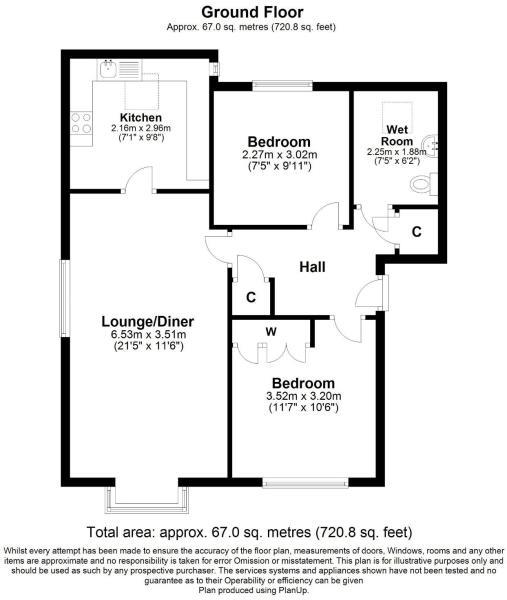 2 bed retirement property for sale in Whitecliffe Court, Blandford Forum, Blandford Forum - Property Floorplan