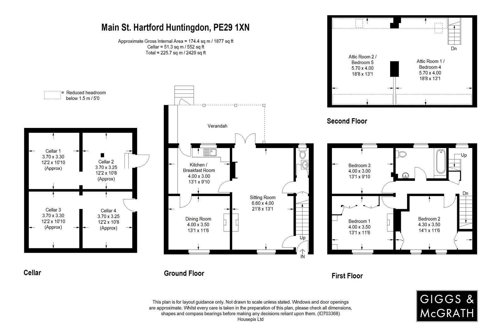 3 bed house for sale in Hartford, PE29 1XN - Property Floorplan