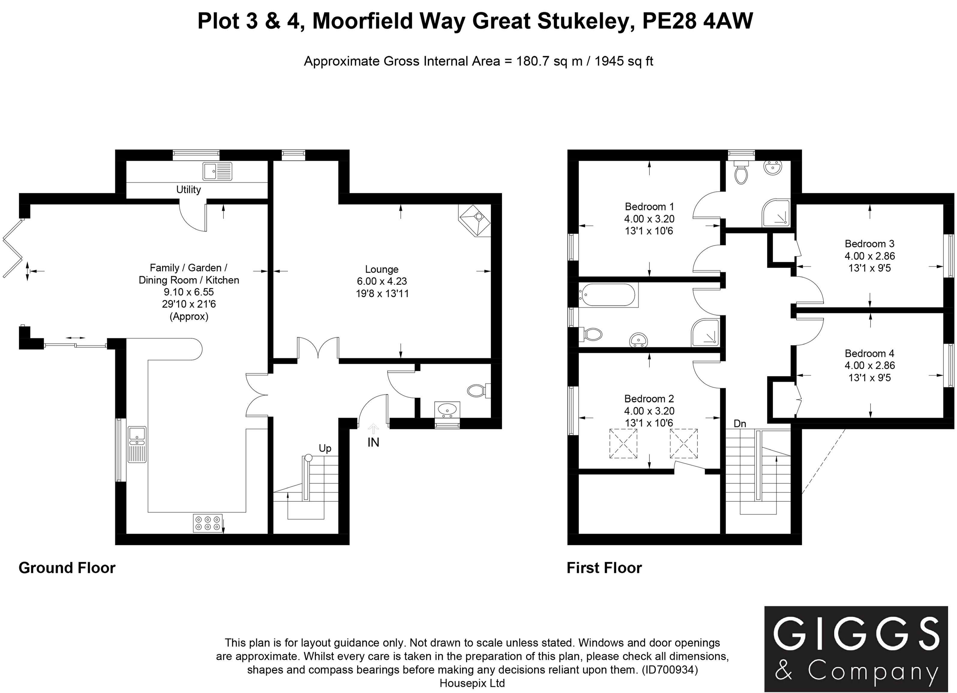 4 bed house for sale in Great Stukeley, PE28 4AW - Property Floorplan