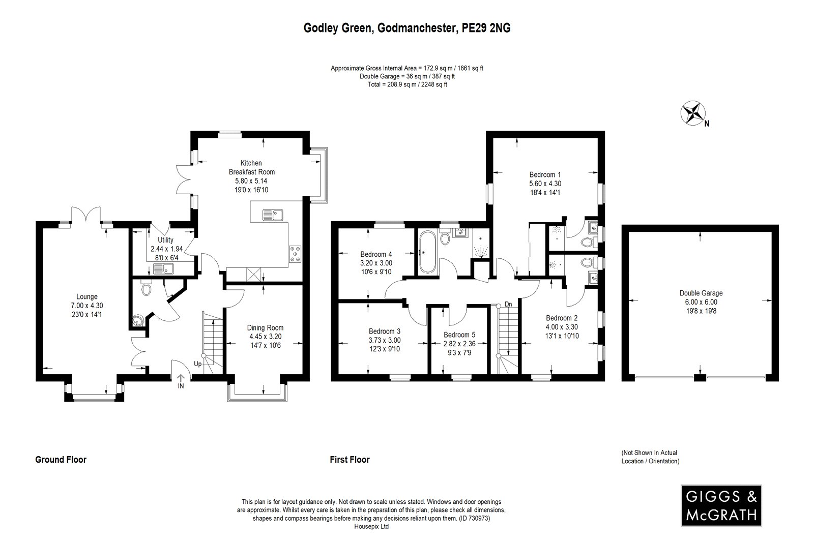 5 bed house for sale in Godmanchester, PE29 2NG - Property Floorplan