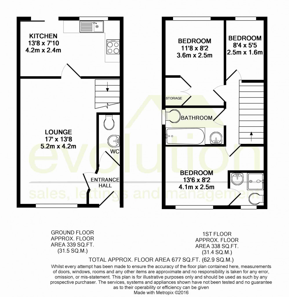 3 bed detached house for sale in Roman Way, Kingsnorth, Ashford - Property Floorplan