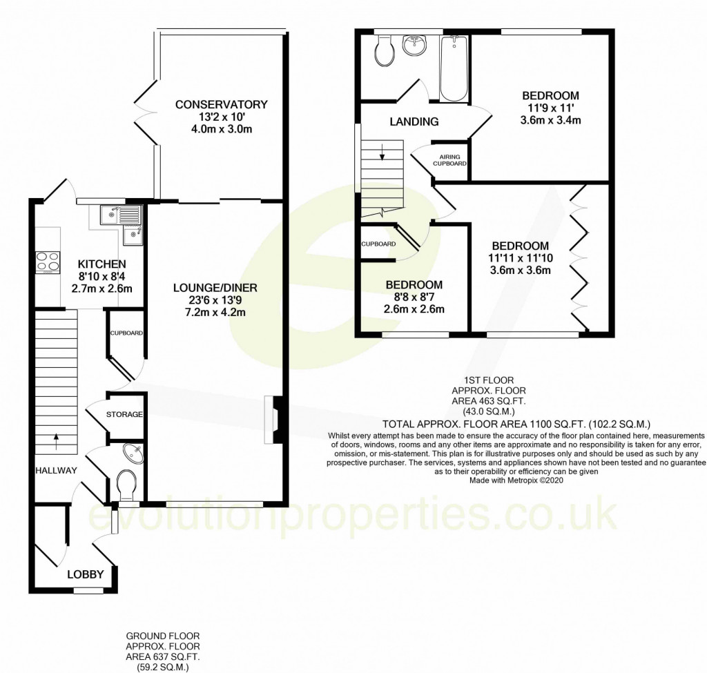 3 bed semi-detached house for sale in Salthouse Close, Brookland, Romney Marsh - Property Floorplan