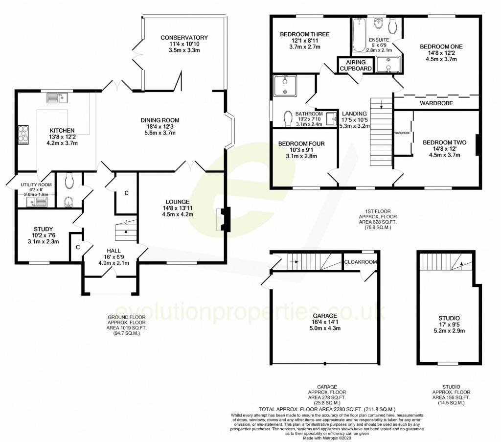 4 bed detached house to rent in Millstream Green, Ashford - Property Floorplan