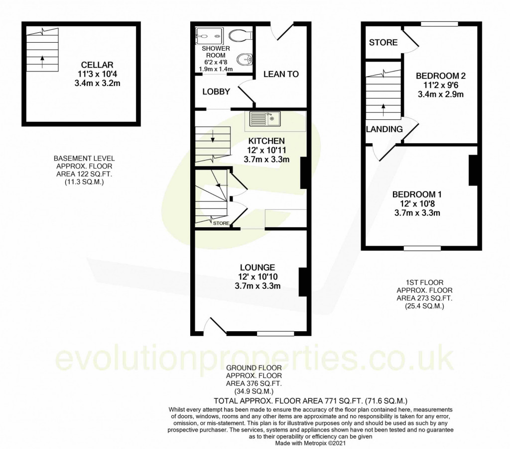 2 bed terraced house for sale in Thornhill Place, Maidstone - Property Floorplan