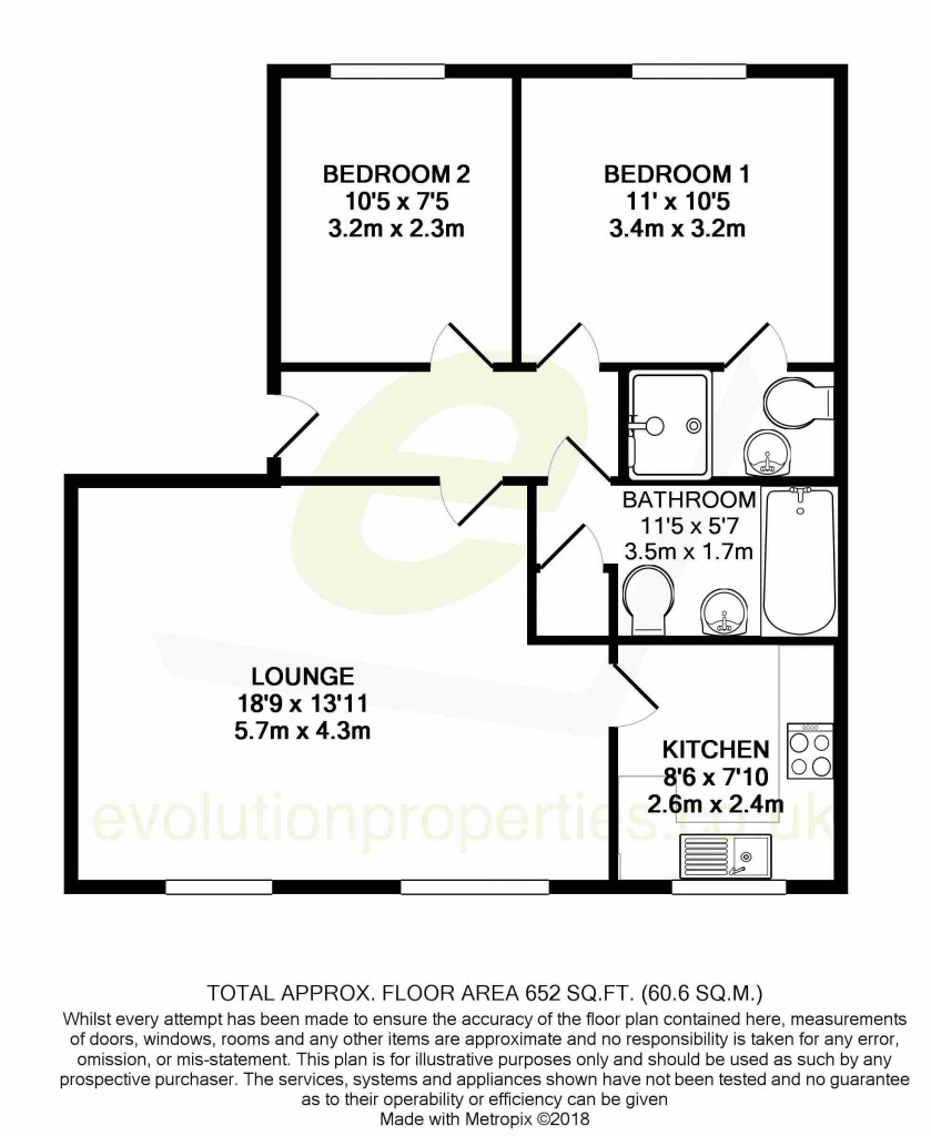 2 bed apartment for sale in East Stour Way, Ashford - Property Floorplan