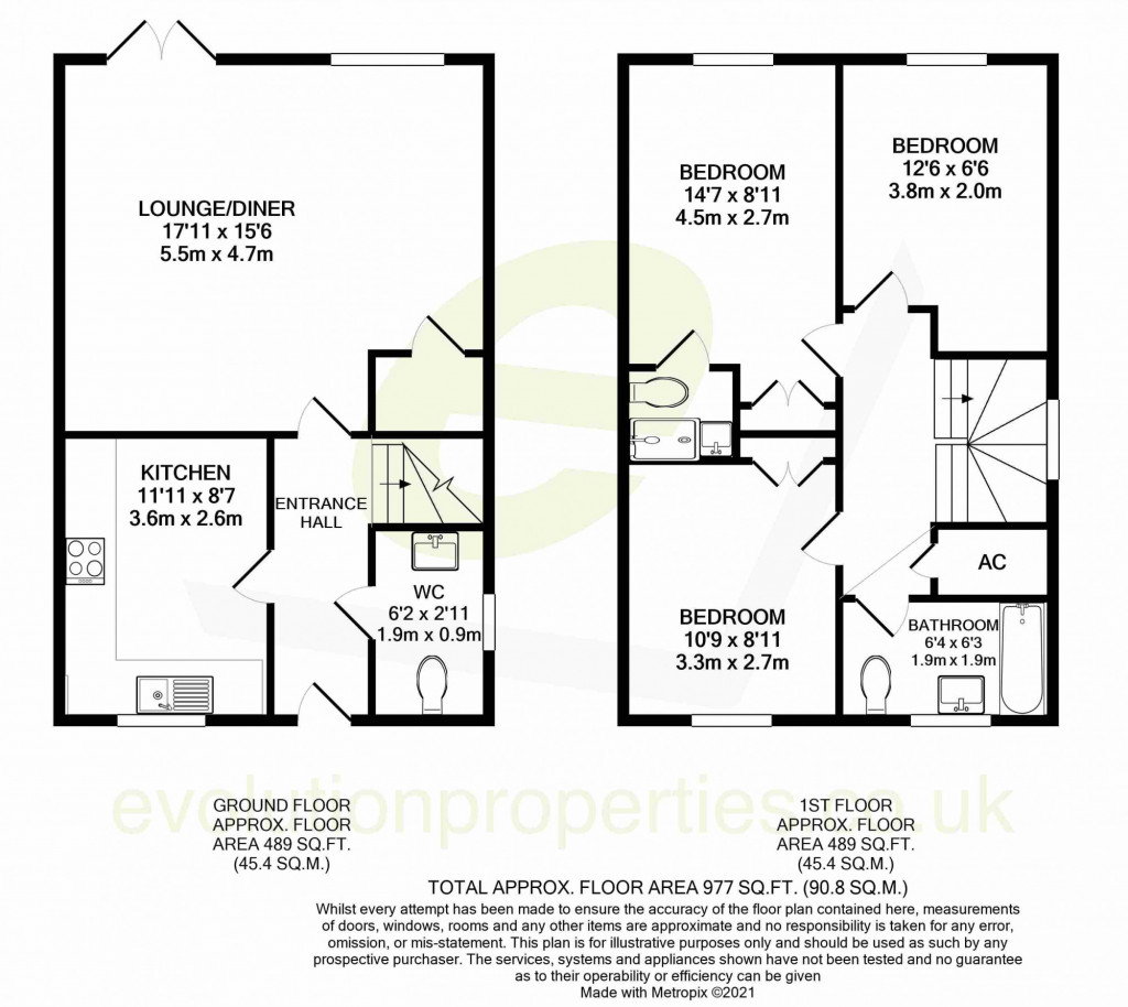 3 bed detached house for sale in Guernsey Way, Ashford - Property Floorplan