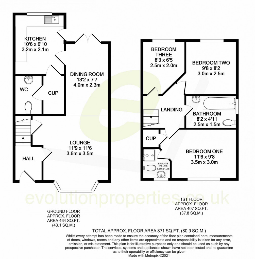 3 bed terraced house for sale in Bosman Close, Maidstone - Property Floorplan