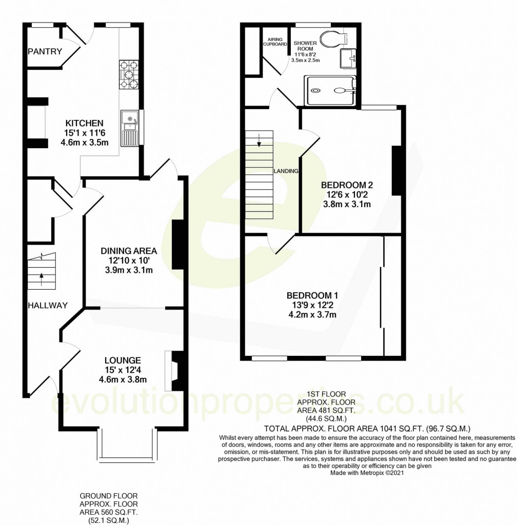 2 bed semi-detached house for sale in Albert Road, Canterbury - Property Floorplan