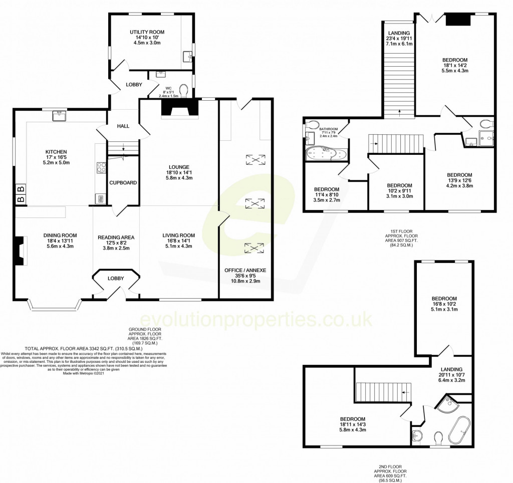 6 bed detached house for sale in Stoke Road, Allhallows, Rochester - Property Floorplan