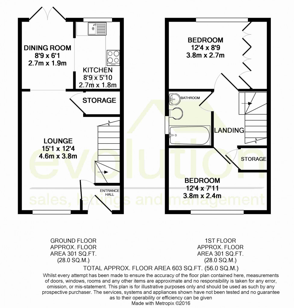 2 bed end of terrace house for sale in New Rectory Lane, Kingsnorth, Ashford - Property Floorplan