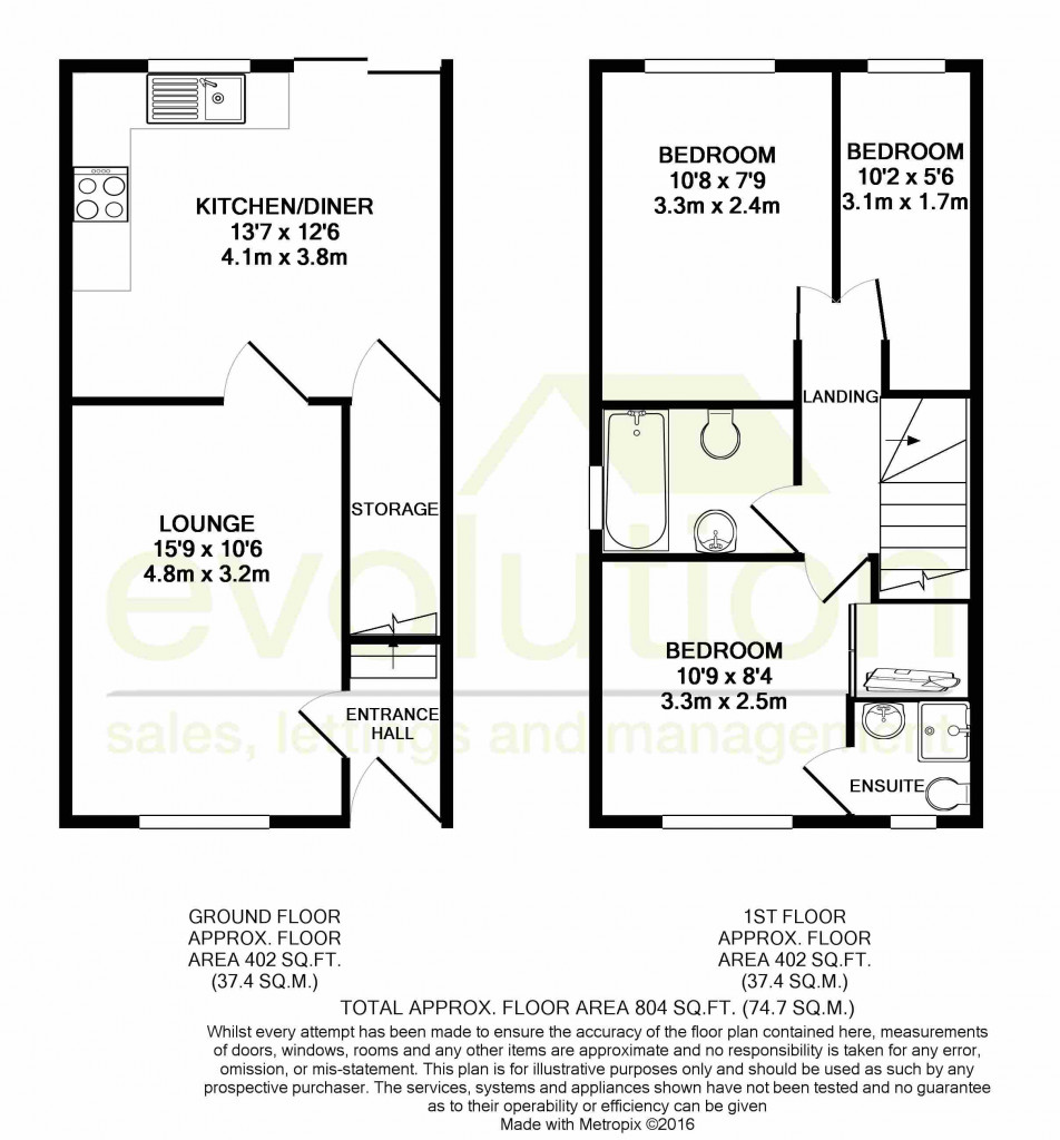 3 bed link detached house for sale in Smithy Drive, Kingsnorth, Ashford - Property Floorplan