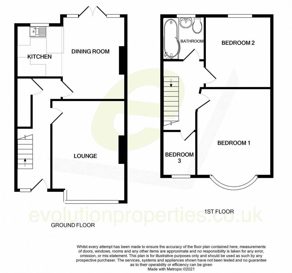 3 bed terraced house to rent in Boundary Road, Chatham - Property Floorplan