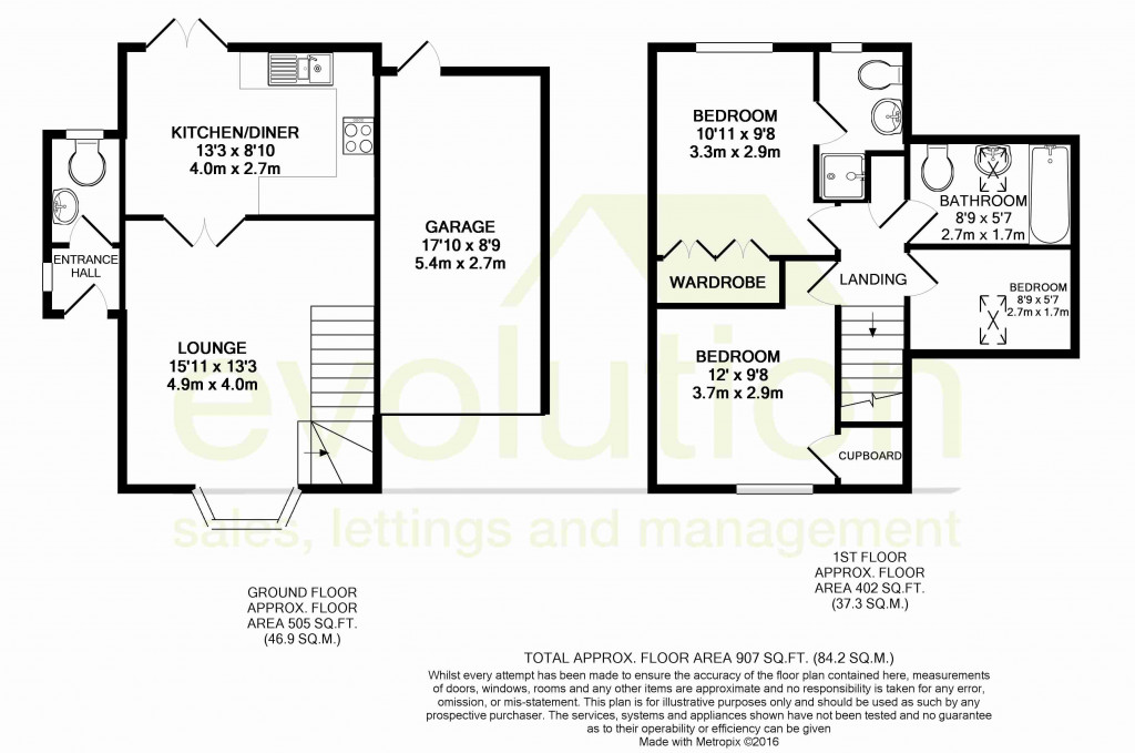 3 bed detached house for sale in Almond Close, Orchard Heights, Ashford - Property Floorplan
