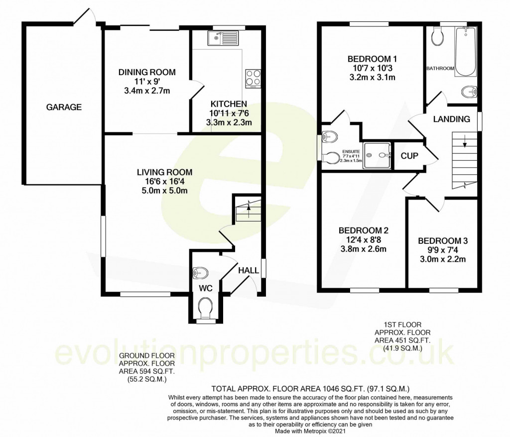 3 bed detached house for sale in Forest Avenue, Orchard Heights, Ashford - Property Floorplan