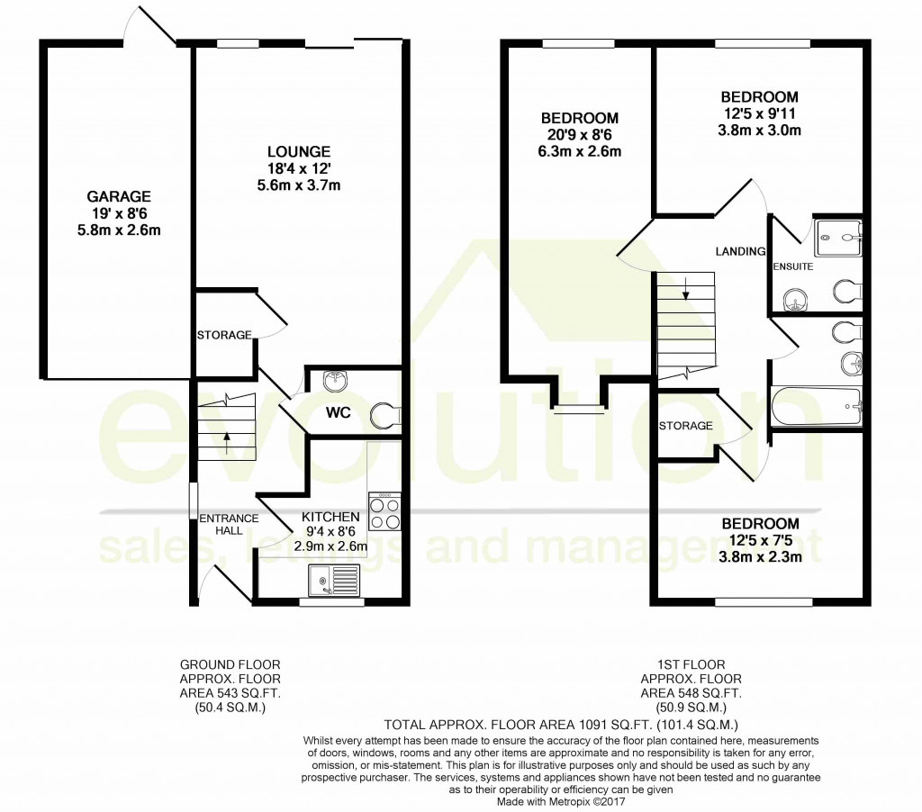 3 bed semi-detached house for sale in Forest Avenue, Orchard Heights, Ashford - Property Floorplan