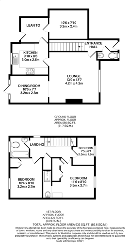 3 bed detached house for sale in Roman Way, Ashford - Property Floorplan
