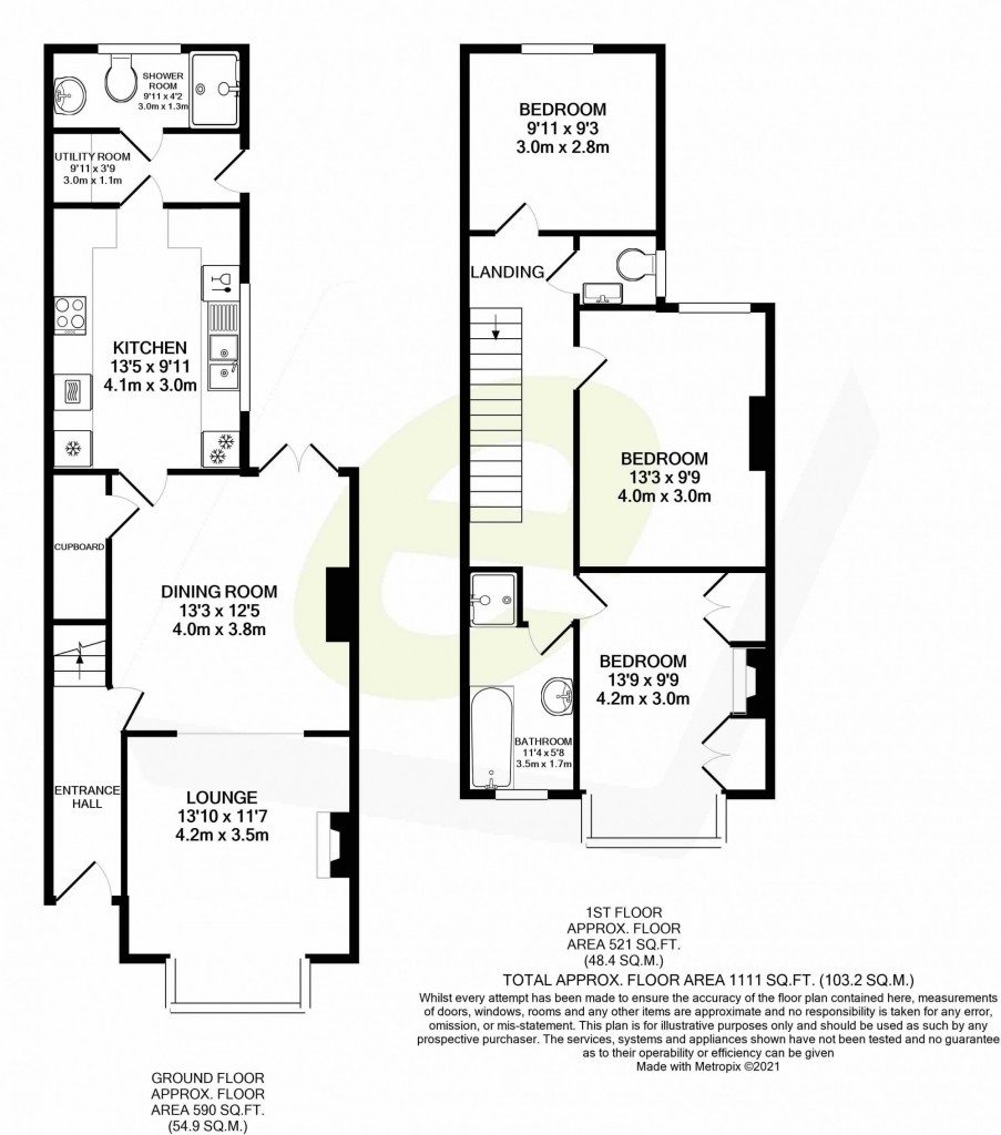 3 bed semi-detached house to rent in Sackville Crescent, Ashford - Property Floorplan